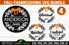 Fall Bundle - Thanksgiving SVG Bundle - Family Monogram SVG Product Image 1