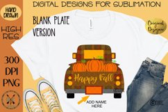 Happy Fall Truck of Pumpkins Sublimation Design Product Image 2