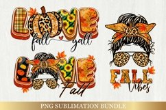 Fall Sublimation Bundle - Love Fall Yall Png Autumn Vibes Product Image 1