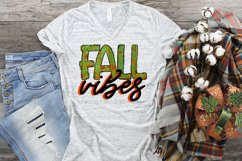 Fall Vibes Fall/Autumn Leaves PNG File Design Sublimation Product Image 2