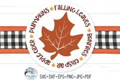 Fall Leaf Circle SVG   Falling Leaves, Pumpkins, Bonfires Product Image 1