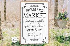 Farmers Market SVG | Vertical Farmhouse Design Product Image 1