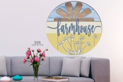 Farmhouse Windmill Sign SVG Glowforge Files Laser Cut Files Product Image 2