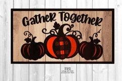 Farmhouse Plaid Pumpkin Welcome Sign SVG Glowforge Files Product Image 1