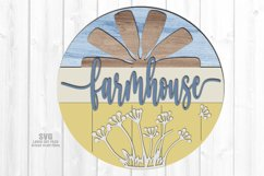 Farmhouse Windmill Sign SVG Glowforge Files Laser Cut Files Product Image 1