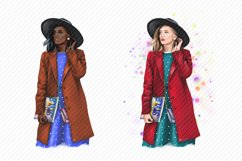 Young Women Fashion Girl Clipart African American European Product Image 2