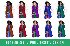 Young Women Fashion Girl Clipart African American European Product Image 1