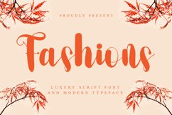 Fashion - A Luxury Scrip Font Product Image 1