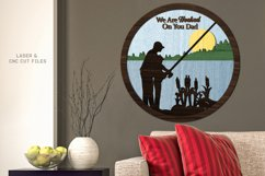 Hooked On You Dad Sign SVG Glowforge Laser Cut Files Product Image 4