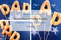 Father's Day Gold Balloons Background. 3 Pack Styled Photos Product Image 1