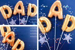 Father's Day Gold Balloons Background. 3 Pack Styled Photos Product Image 2