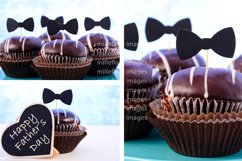Father's Day Chocolate Cupcakes. 3 Pack Styled Stock Photos Product Image 2