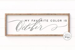 My Favorite Color Is October SVG   Fall / Autumn Sign Product Image 1