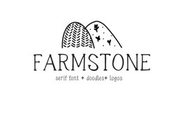 Farmstone Rustic serif font. Doodles . Logos Product Image 2