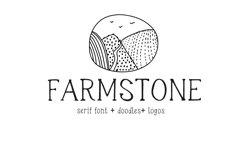 Farmstone Rustic serif font. Doodles . Logos Product Image 3