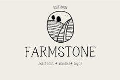 Farmstone Rustic serif font. Doodles . Logos Product Image 1