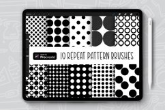 10 Dot Vibes Repeat Pattern Procreate Brush Bundle Product Image 1