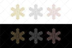 Glitter Snowflakes Bundle | Christmas | EPS PNG JPG Product Image 2