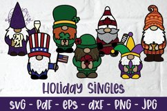 Mega 3D Gnome Bundle, Papercut Gnome SVG, Layered Gnome DXF Product Image 2