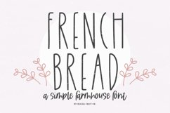 FRENCH BREAD a Simple Farmhouse Font Product Image 1