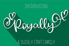 Royally - A Hand Lettered Font Script with Heart Swashes Product Image 1