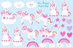Unicorn clipart, Unicorn graphics & Illustrations, Unicorns Product Image 2