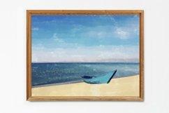 Boat And Sea - Watercolor - Wall Art - Digital Print Product Image 3