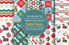 Christmas Dog Digital Papers Product Image 1