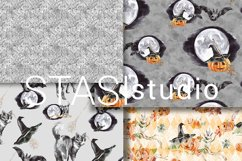 Halloween Watercolor Handpainted Paper, Seamless Patterns Product Image 2
