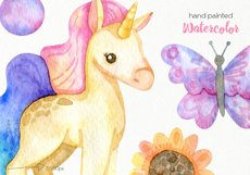 Watercolor Unicorn Clipart - PNG Files Product Image 4