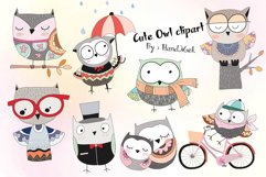 Cute owl Clipart Product Image 1