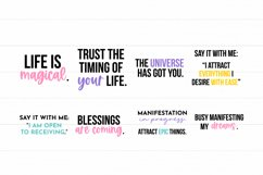 Law Of Attraction Quote SVG Bundle - Colorful Version Product Image 4