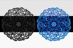 Mandala Printable Transparent Background, Sublimation PNG, Product Image 2