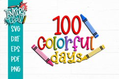 100 Colorful Days of School SVG Product Image 2