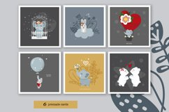 Nursery baby and valentine day cliparts, cards, patterns Product Image 3