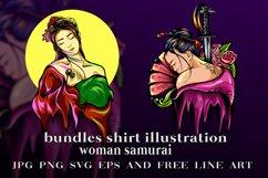 bundles vector samurai girl illustration Product Image 1