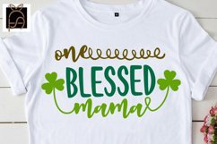 One Blessed Mama Mini- St. Patrick's Day SVG DXF EPS PNG PDF Product Image 2