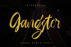 Gangster - Rough Brush Font Product Image 1
