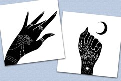 Hands clipart and procreate stamps with logo elements Product Image 6