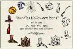 Halloween icon set bundles Product Image 1