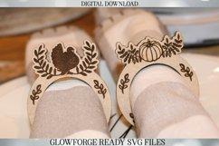 Glowforge Napkin Ring Set - Thanksgiving - Laser Machine Product Image 2
