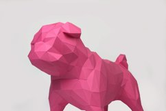 Pug Dog Papercraft, Paper Pug, Dog Statue, Puppy Pug, Paper Animals, Papertoy, Home Decor, Pug Dog, 3D papercraft model, lowpoly DIY, hobby Product Image 1