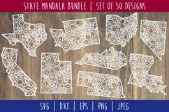 State Mandala Zentangle Bundle Set of 50 - USA SVG Product Image 1