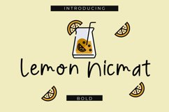 Lemon Nicmat Bold Playful font Product Image 1