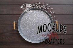 Round Metal Tray - Dollarama - MOCK-UP Product Image 1