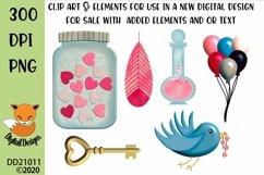 Valentine Clipart Elements Sublimation Scrapbooking Bundle Product Image 2