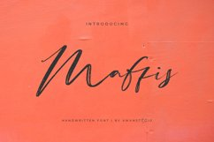 Maffis Handwritten Font Product Image 1