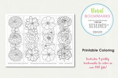 Pretty Floral Bookmarks to Color Product Image 2