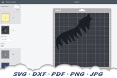 Inspirational Celestial Wolf SVG DXF Cut Files Product Image 3