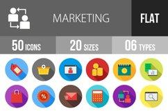 50 Marketing Flat Long Shadow Icons Product Image 1